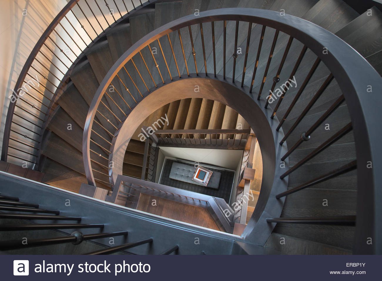 View From Above Of Spiraling Staircase Stock Photo 83237335 Alamy