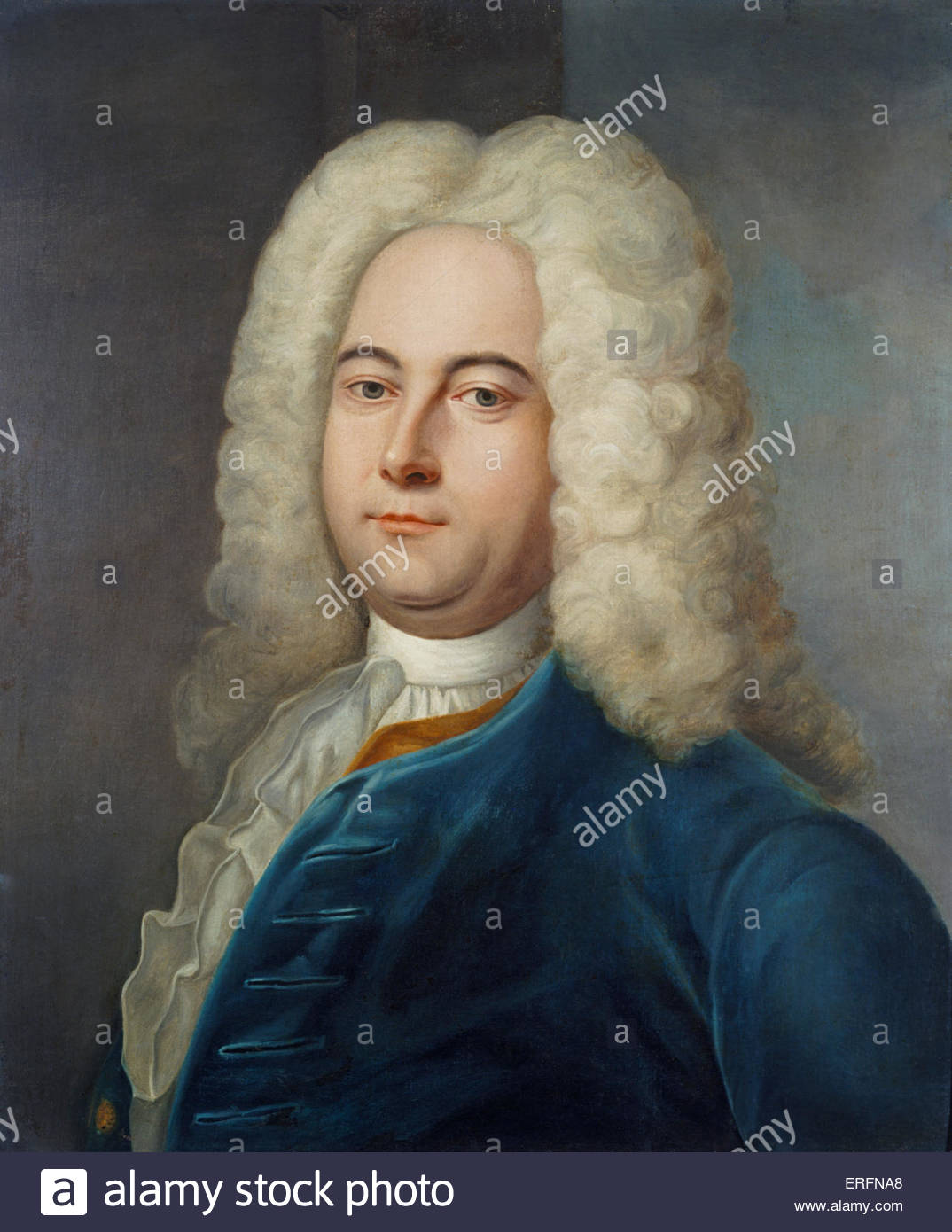 George Frideric Handel - painting by Denner, 1752. Frideric Handel, German-English composer: 23 February 1685 - - Stock Image