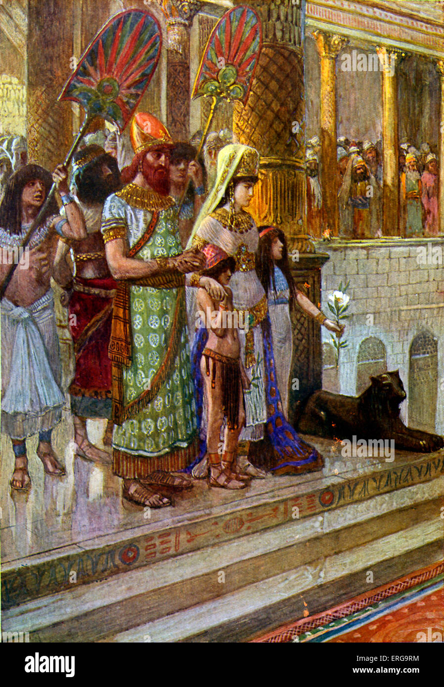 Solomon and the Queen of Sheba by J James Tissot. Illustration to Book of Kings I, 10.1 :'And when the queen of Stock Photo