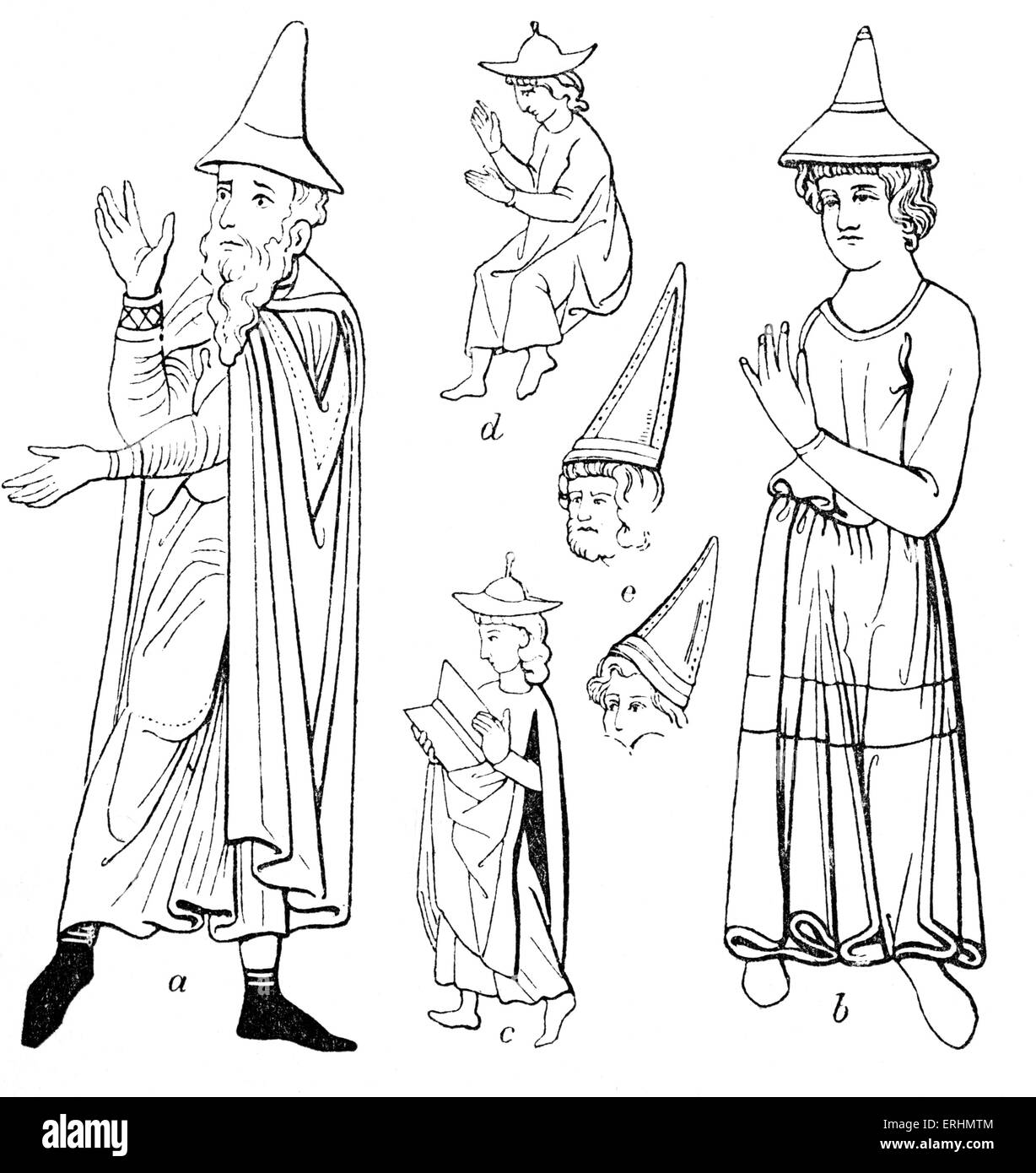 Jew in Germany were obliged to wear special identifying hats in the Middle  Ages. db06a947fb9