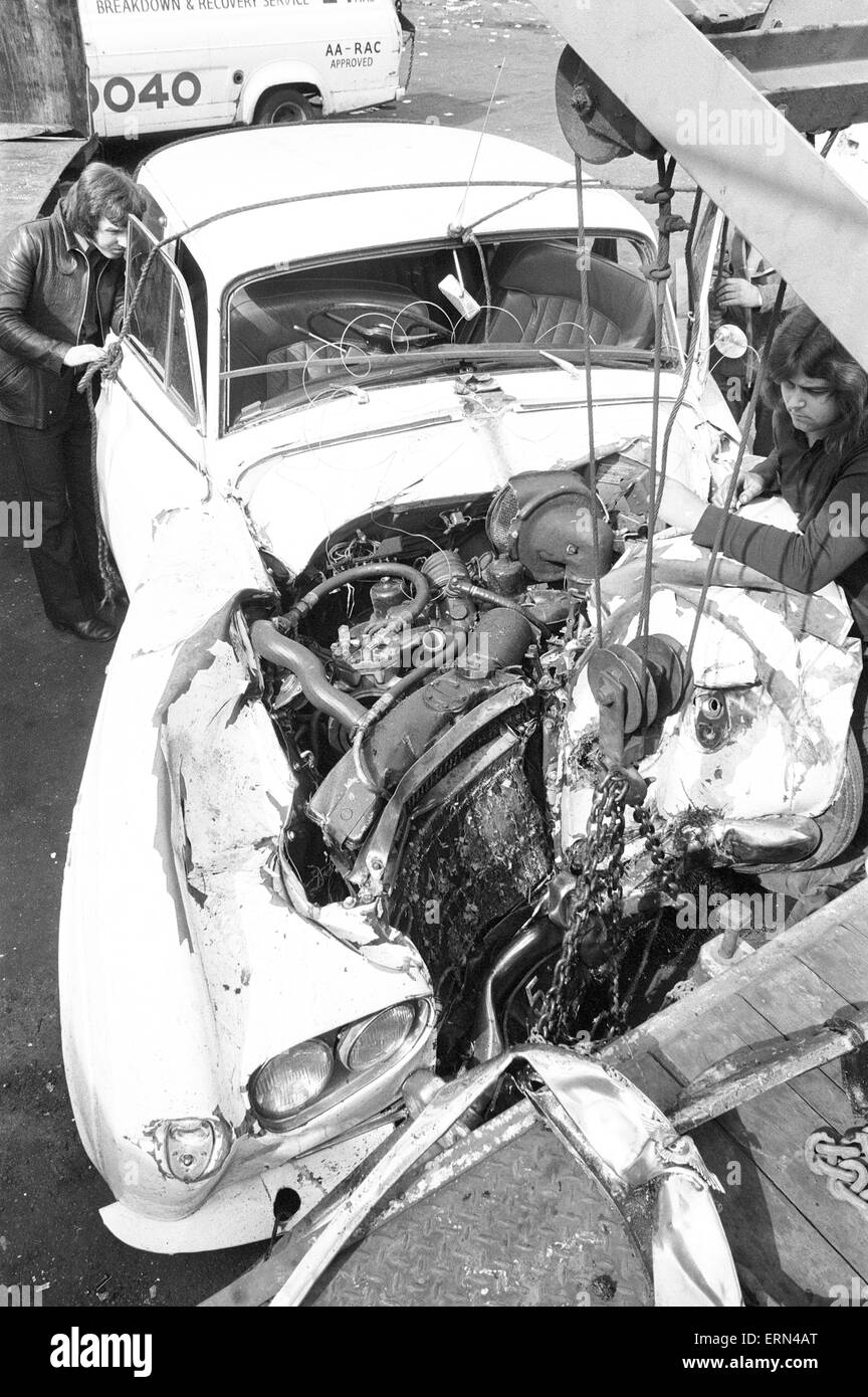 Don Powell, drummer with Slade, was badly injured in a serious car ...