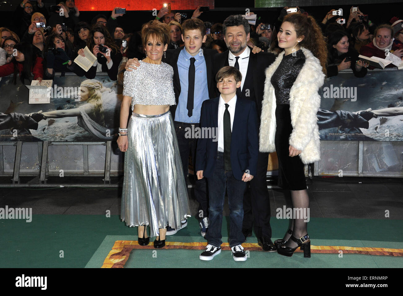'The Hobbit: The Battle of the Five Armies' world premiere - Arrivals  Featuring: Andy Serkis Where: London, - Stock Image