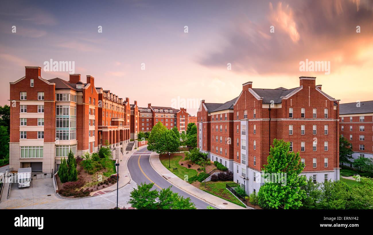 Dormitory apartment buildings at the University of Georgia in Athens, Georgia, USA. - Stock Image