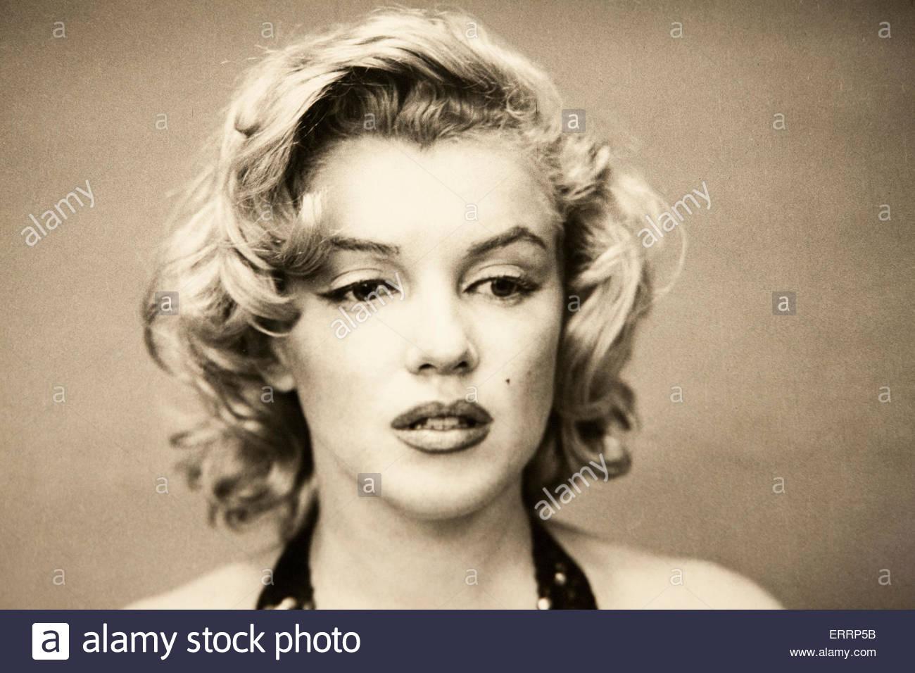 Marilyn Monroe Photograph, Metropolitan Museum of Art, Central Park, Manhattan, New York City - Stock Image