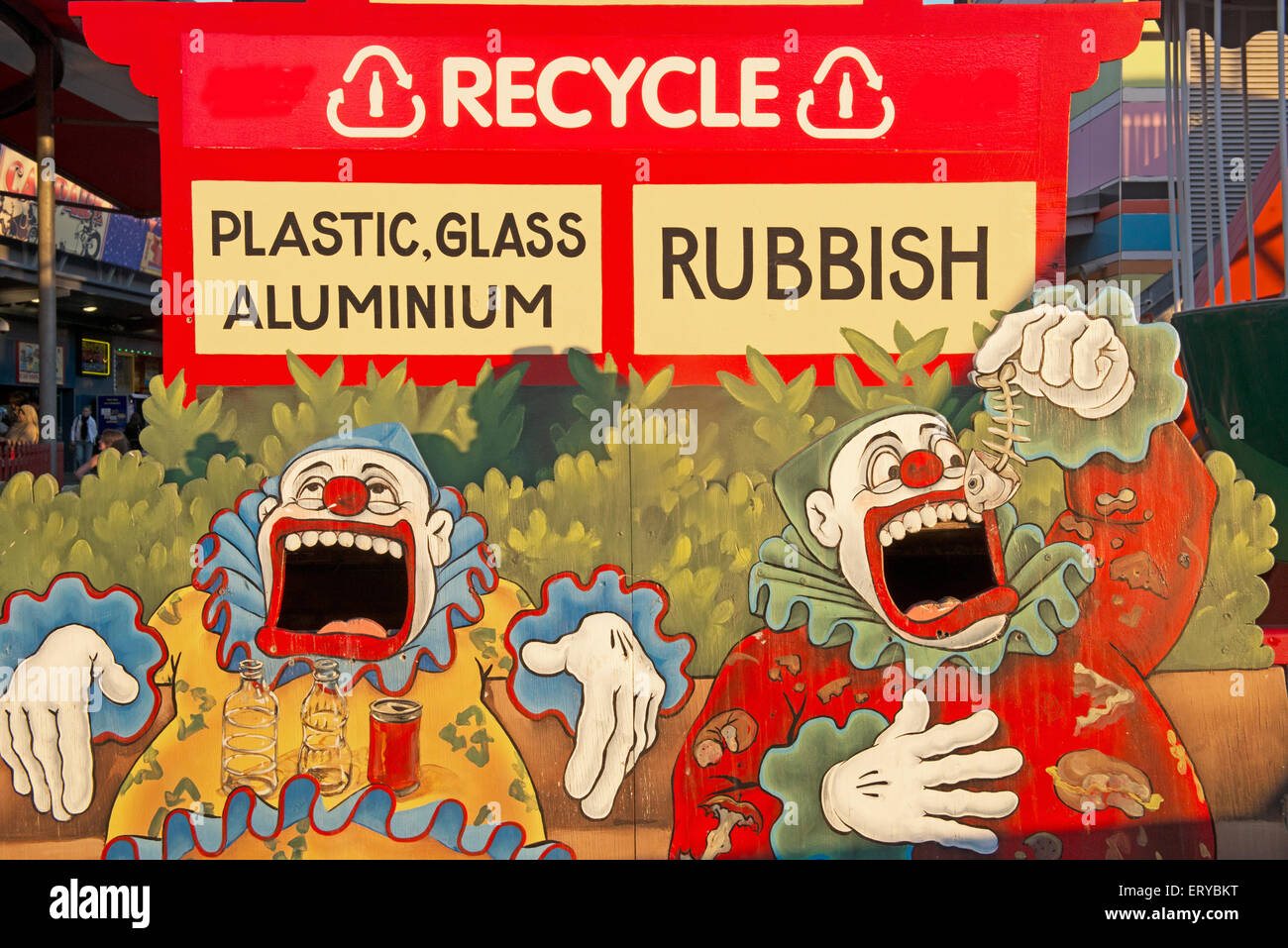 Recycling board, Sydney, New South Wales, Australia, - Stock Image