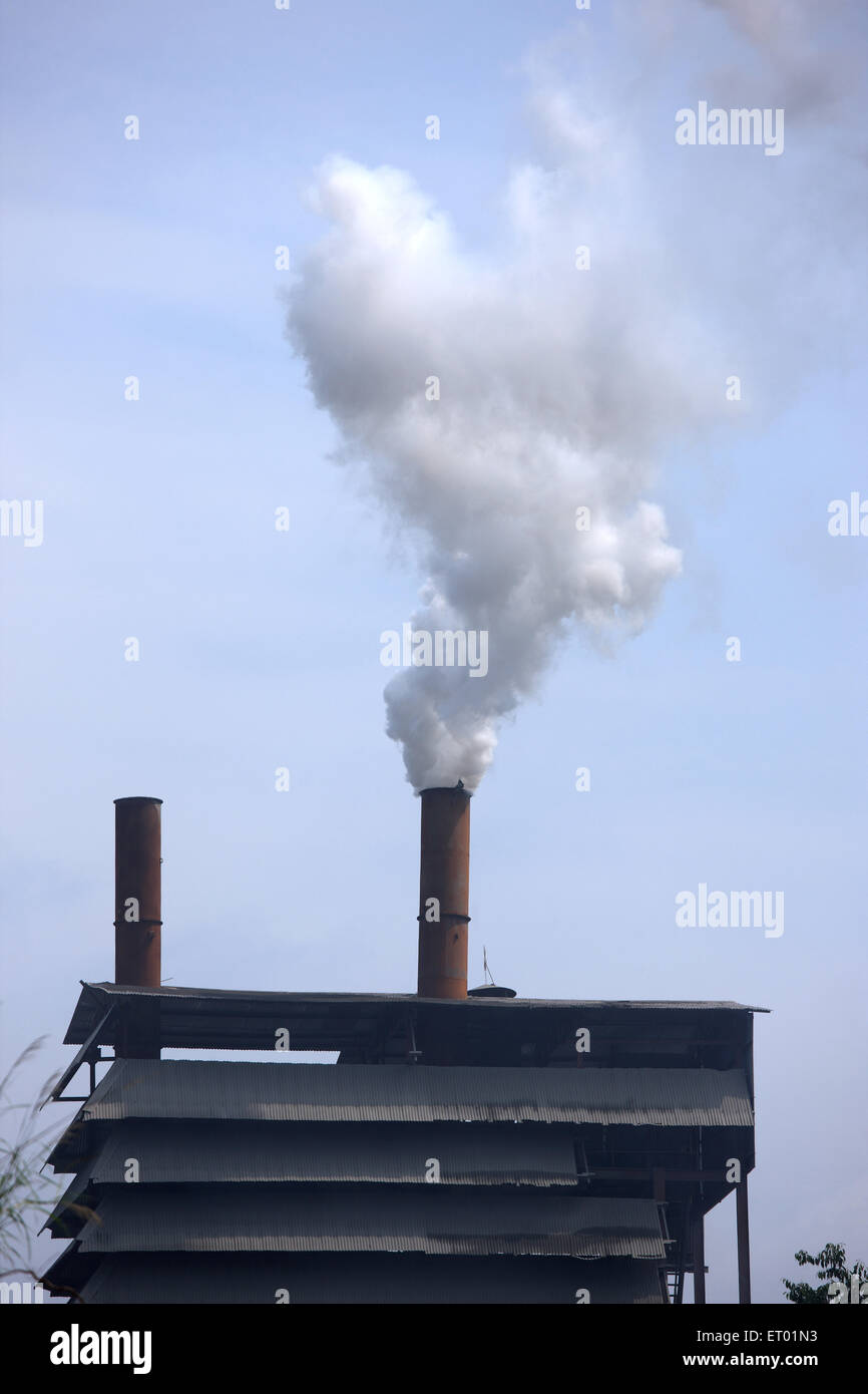 Industrial pollution environmental - Stock Image