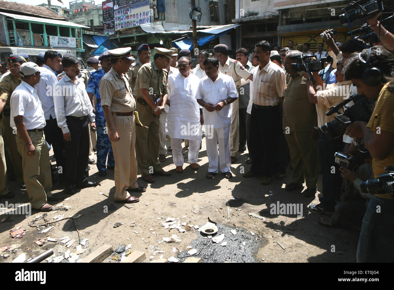 Guardian minister for Nasik district Mr. Chhagan Bhujbal bomb blast rocked Malegaon 29th September 2008 - Stock Image