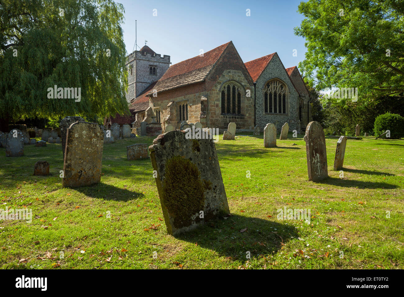 Spring afternoon at St Mary's church in Ringmer, East Sussex, England. Stock Photo