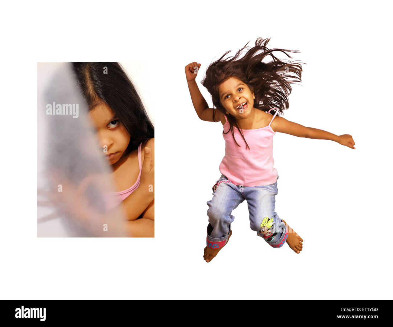 Crazy young girl MR - Stock Image