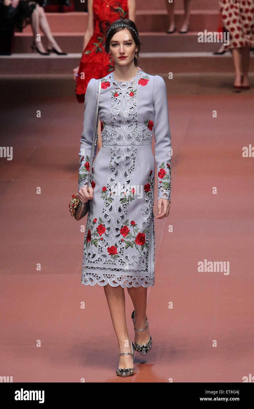 Milan Fashion Week Autumn Winter 2015 - Dolce   Gabbana - Catwalk  Featuring  Model Where  Milan ce6812be100