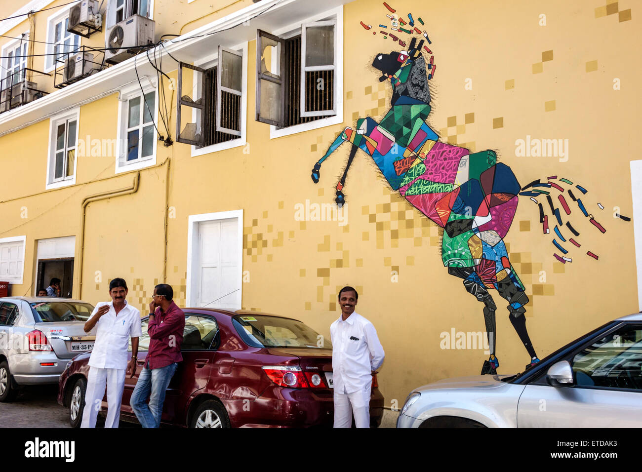 Mumbai India Indian Asian Fort Mumbai Kala Ghoda wall mural art ...