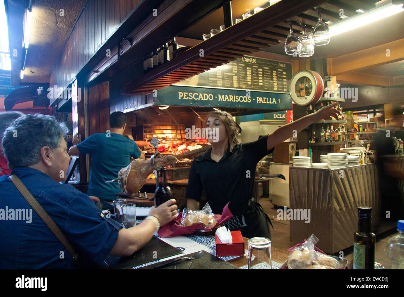 Old port market. Montevideo, Uruguay 2015. - Stock Image