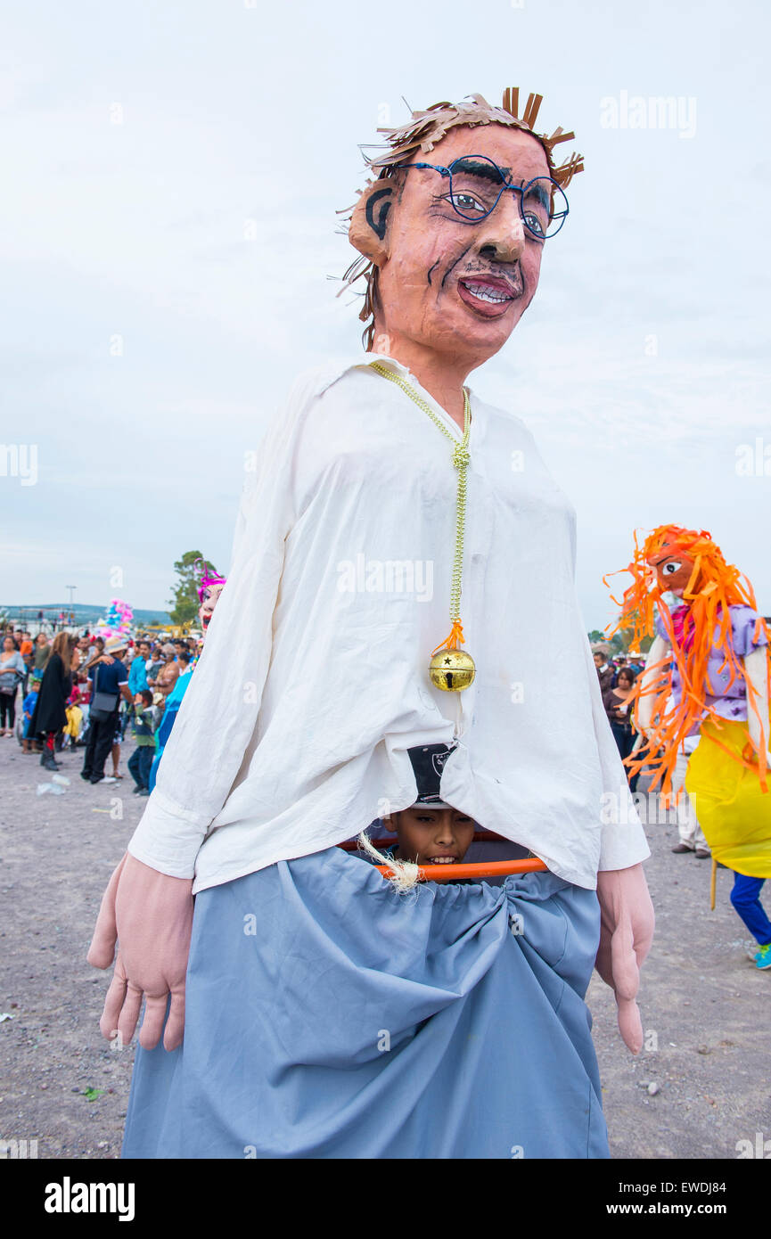 Mojigangas at the festival of Valle del Maiz San Miguel de Allende ,Mexico. - Stock Image