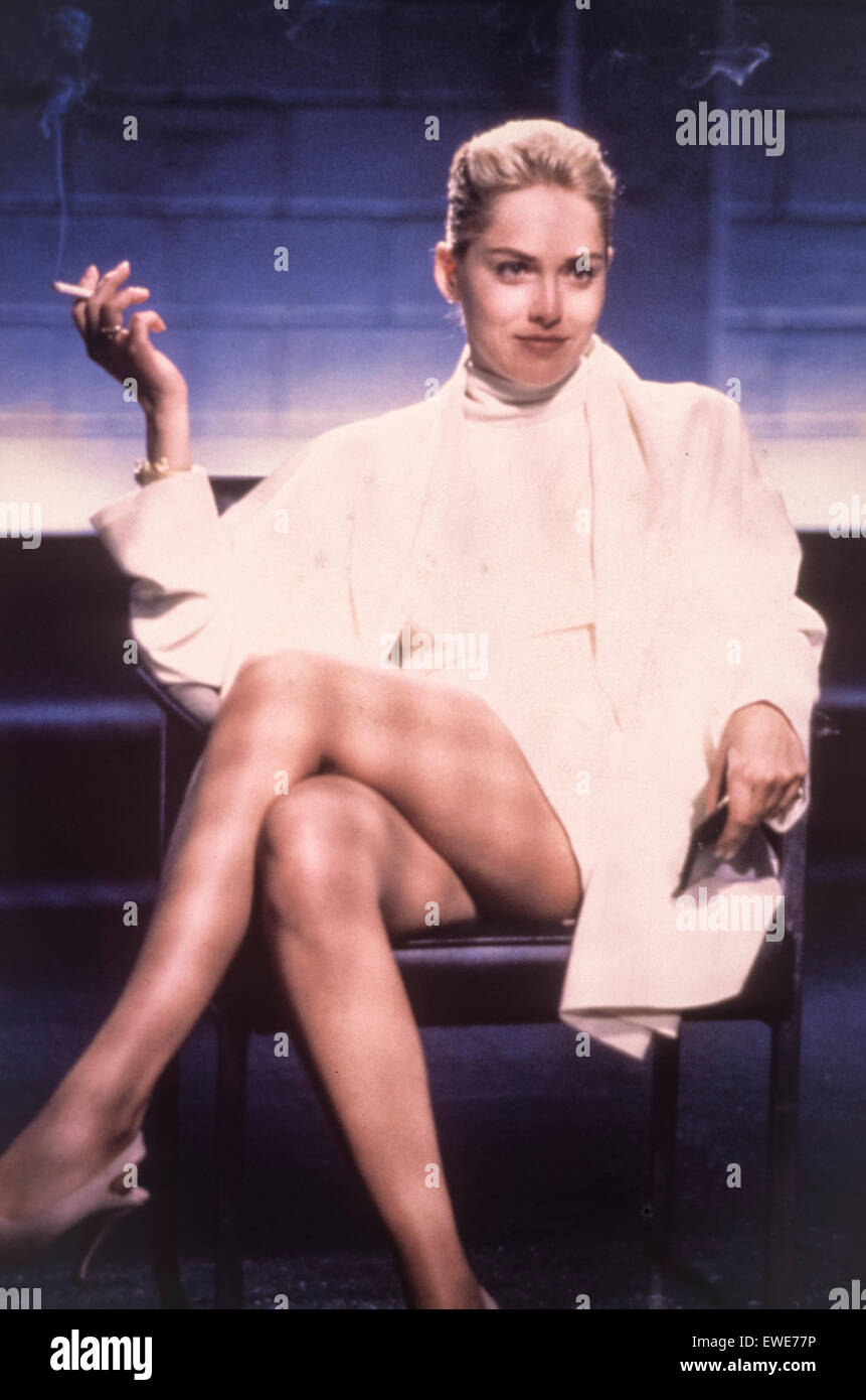sharon stone, basic instinct, 1992 Stock Photo
