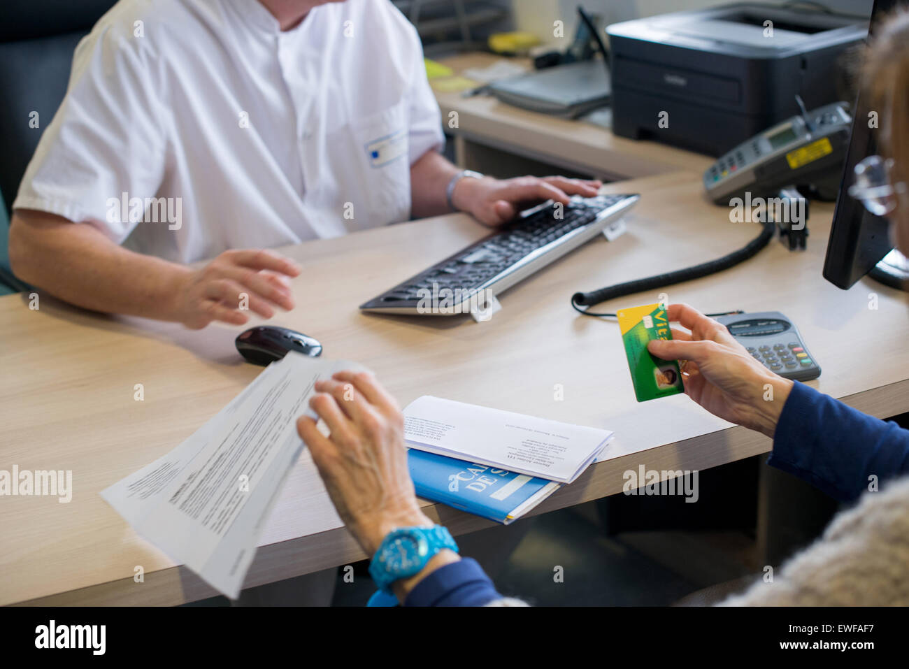 ENT CONSULTATION - Stock Image