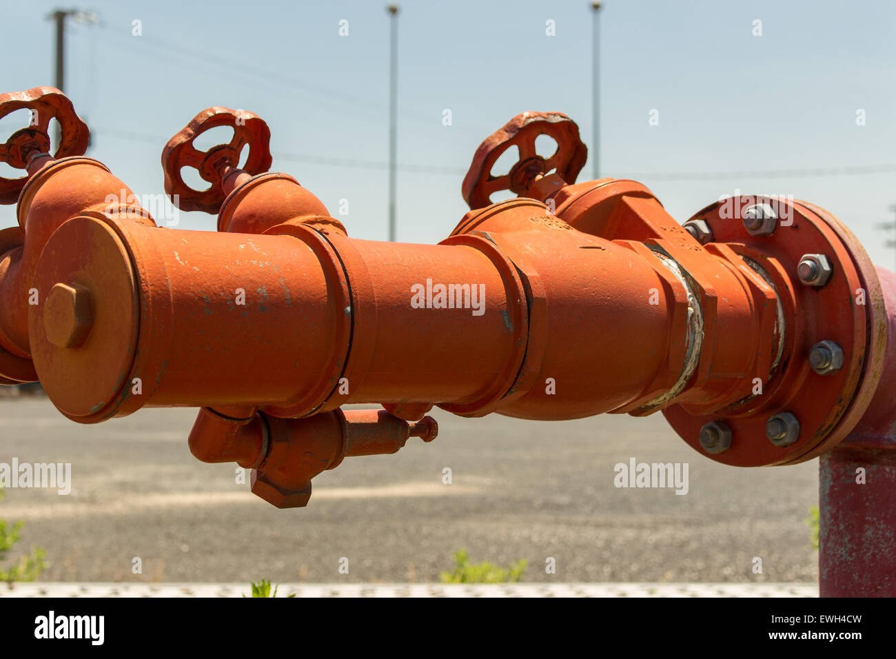 Fire hydrants, fire hoses connecting place. - Stock Image
