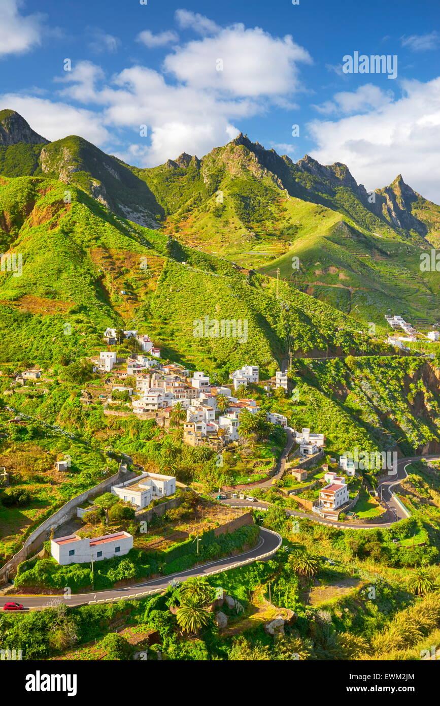 Taganana village, Tenerife, Canary Islands, Spain - Stock Image