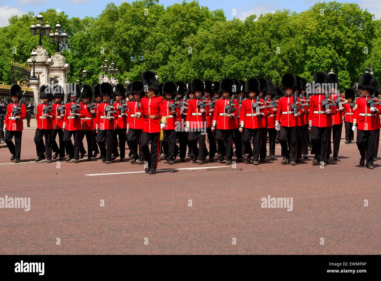Changing of the Guard, Buckingham Palace, London, England, United Kingdom - Stock Image