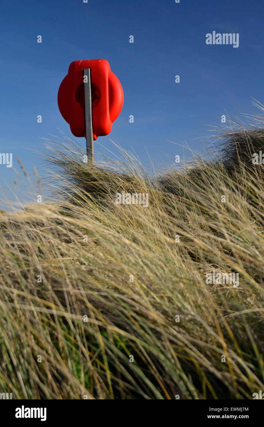 lifebuoy storage point - Stock Image