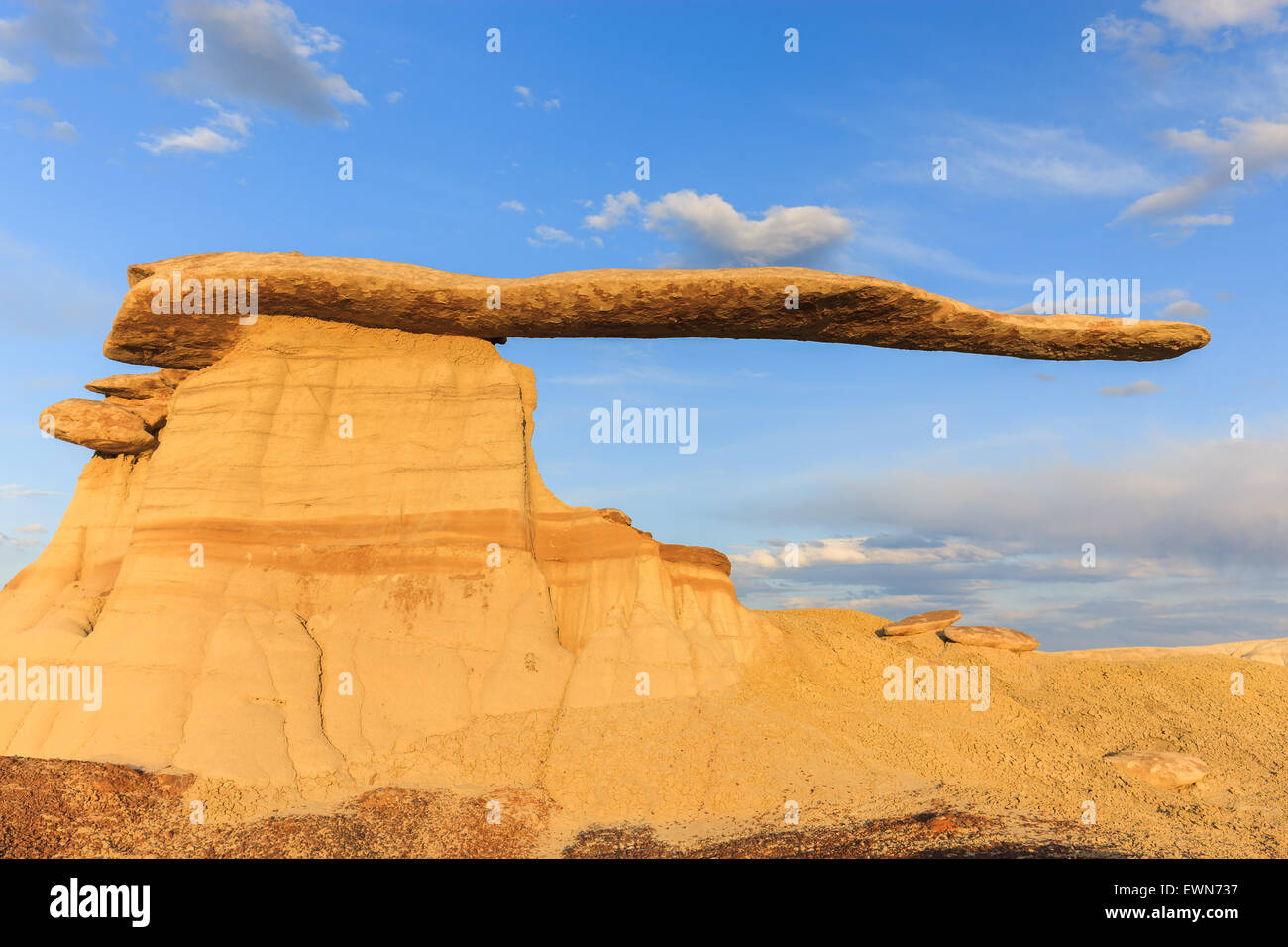 King of Wings in the Bisti Wilderness, New Mexico, USA - Stock Image