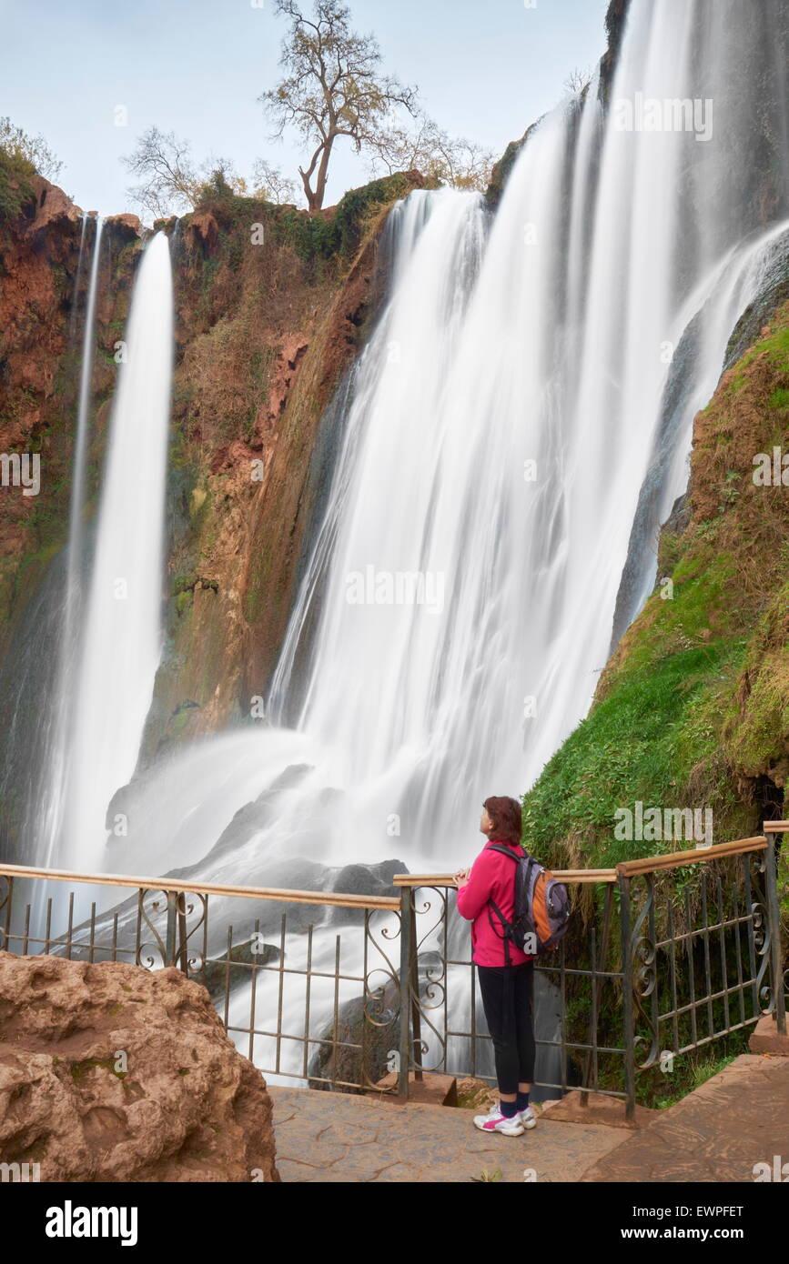 Ouzoud Waterfall, High Atlas, Morocco, Africa - Stock Image