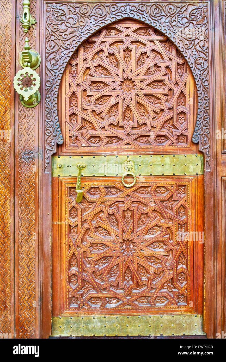 Ornamental door, Morocco, Africa - Stock Image