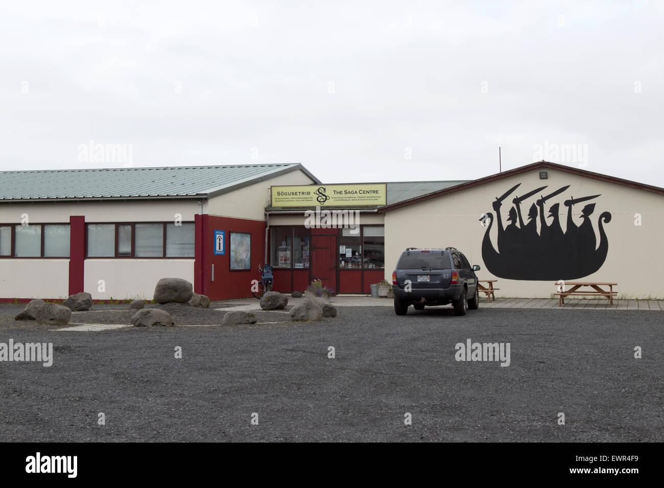 sogusetrid the saga centre Hlidarendi Hvolsvollur Iceland - Stock Image