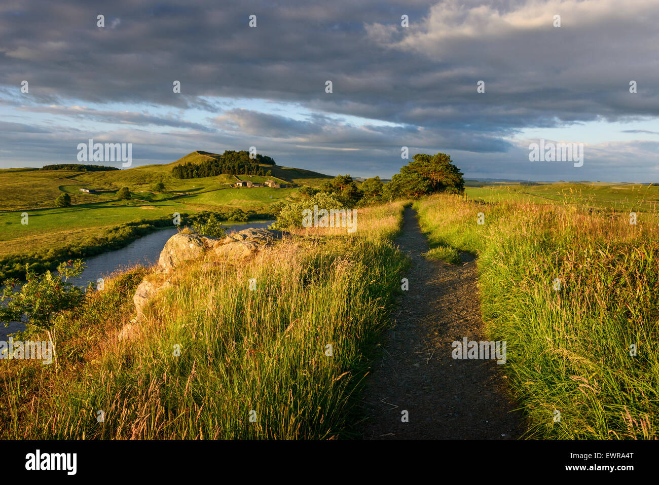 Hadrian's Wall Long Distance Trail - Stock Image
