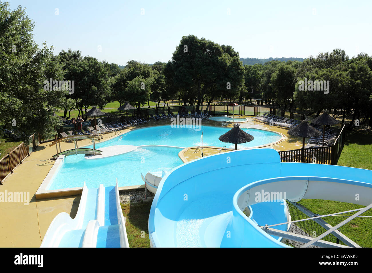 Nice Waterslides And A Swimming Pool At The Domaine De Massereau Campsite In  Sommieres, France. The Campsite Is The First In France T