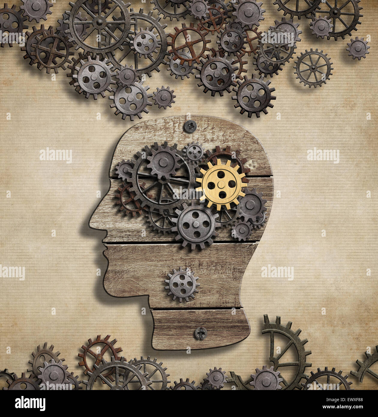 Brain mental activity and idea concept - Stock Image
