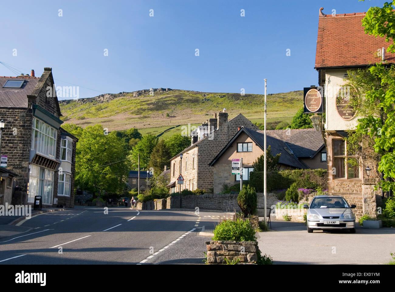 BAMFORD, Derbyshire, UK - June 04: The Derwent Hotel in Bamford nestled beneath Stanage Edge, Peak District on 04 - Stock Image