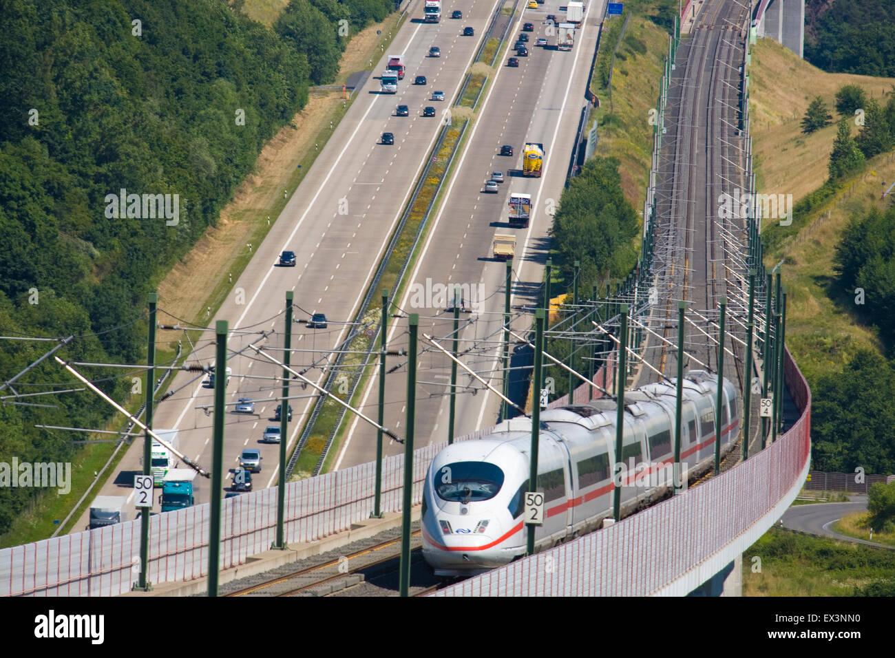 Europe, Germany, Rhineland-Palatinate, high-speed train