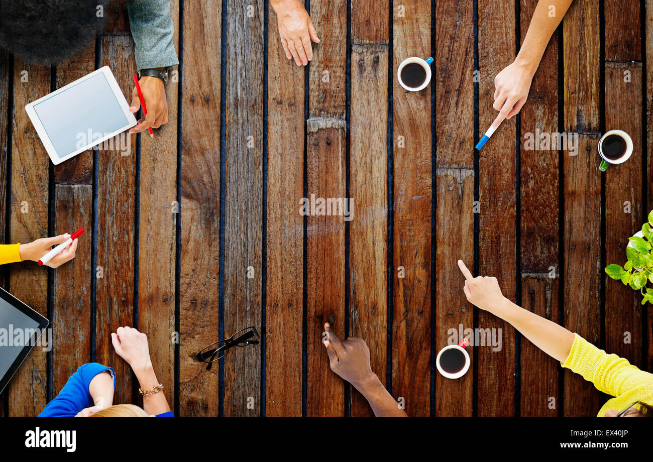 Business Team Planning Project Meeting Concept - Stock Image