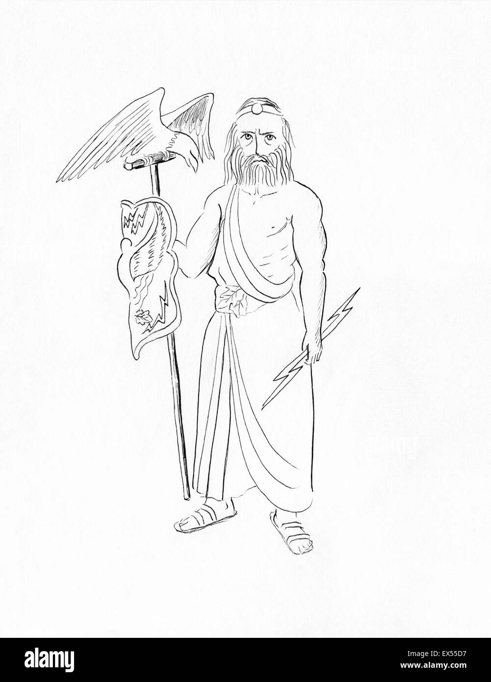 Line Drawing Of Zeus : Greek greece rome roman cut out stock images pictures