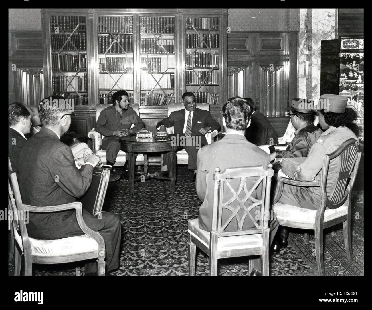 Cuban Revolutionary Ernesto Che Guevarra with Egypt's president Gamal Abdul Nasser in Cairo, 1959 - Stock Image