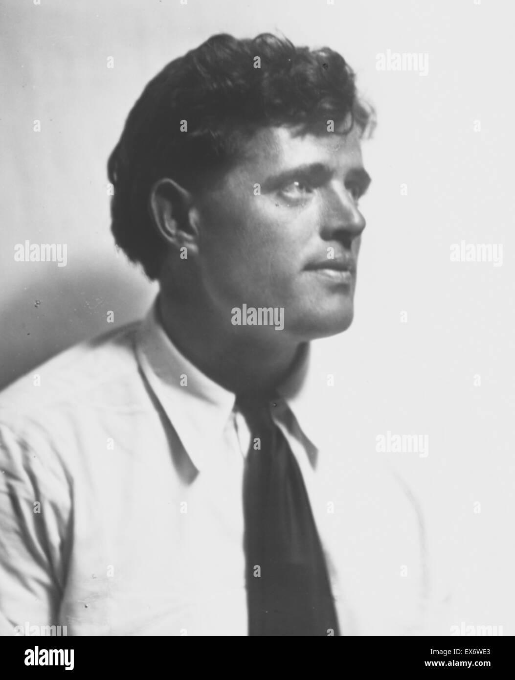 32ce85a95494 Portrait photograph of Jack London (1876-1916) American author Stock ...