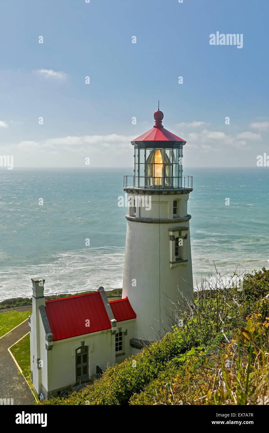 Heceta Head Lighthouse (State Park) and workroom, Oregon USA - Stock Image