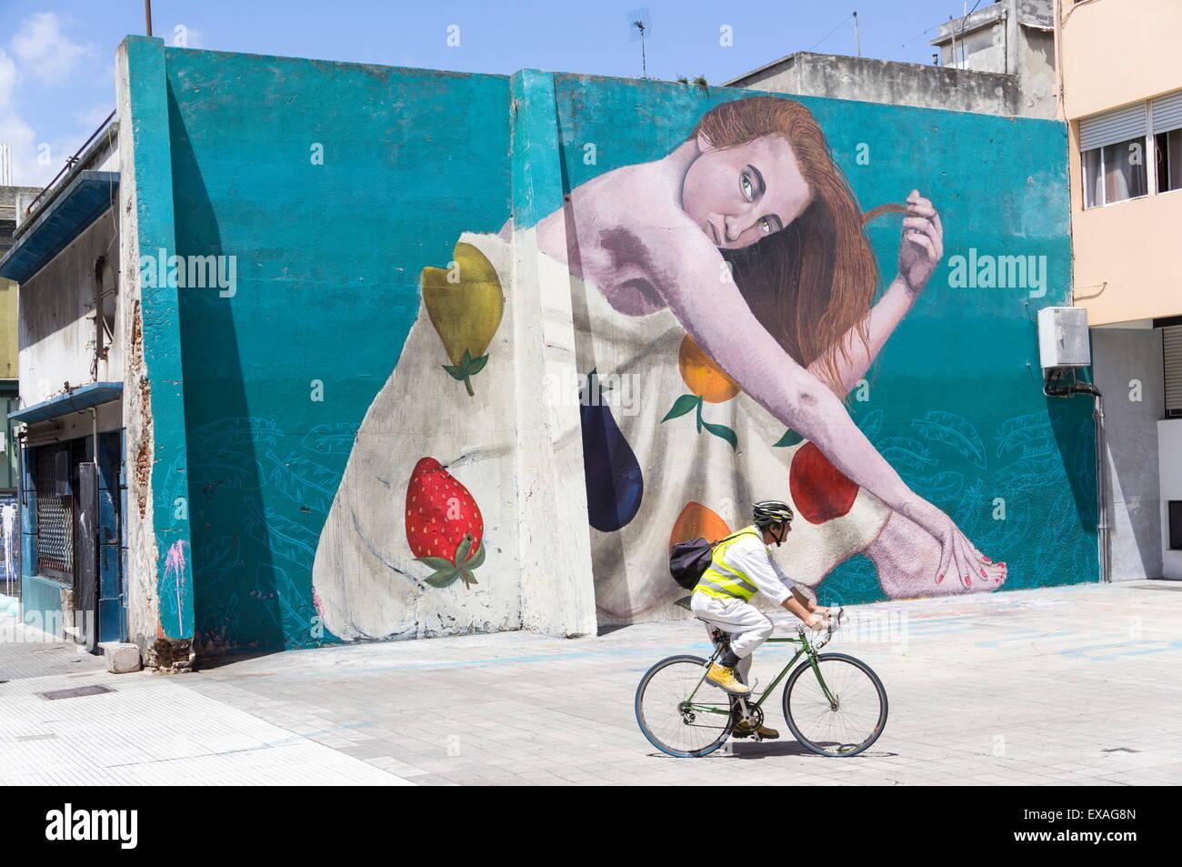 Graffiti, Montevideo, Uruguay, South America - Stock Image