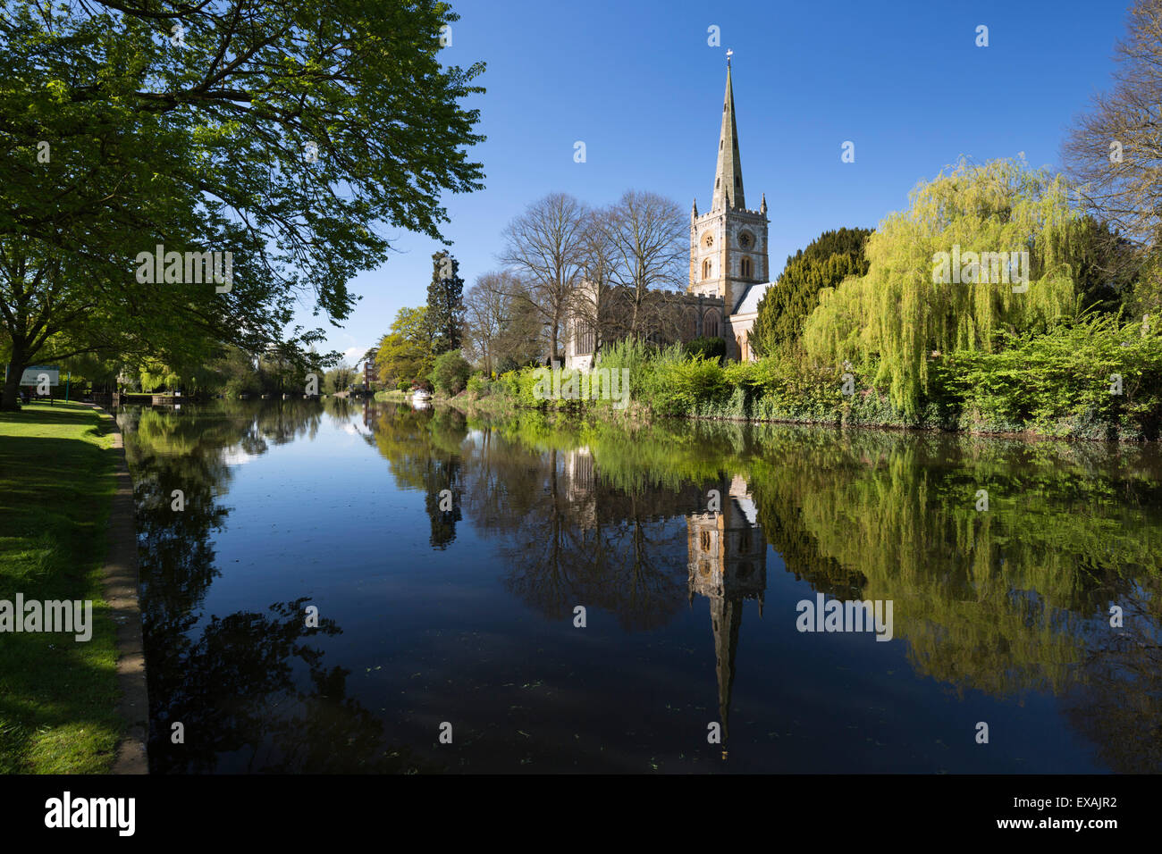 Holy Trinity Church on the River Avon, Stratford-upon-Avon, Warwickshire, England, United Kingdom, Europe Stock Photo
