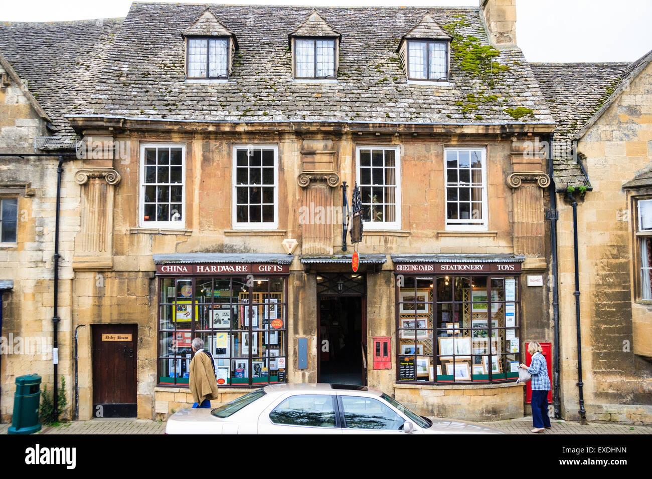 Cotswold Town Chipping Campden View Along High Street Showing