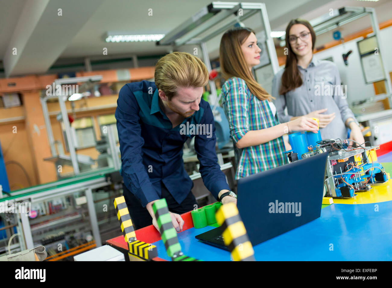 Young People In The Robotics Classroom Stock Photo 85163114 Alamy