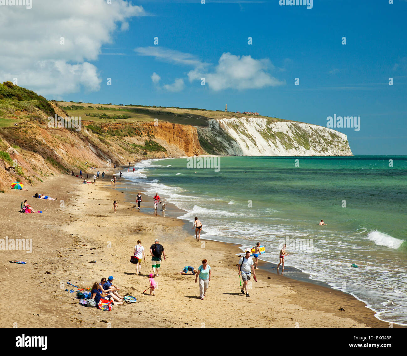 Yaverland beach, Culver down, Isle of Wight. Stock Photo