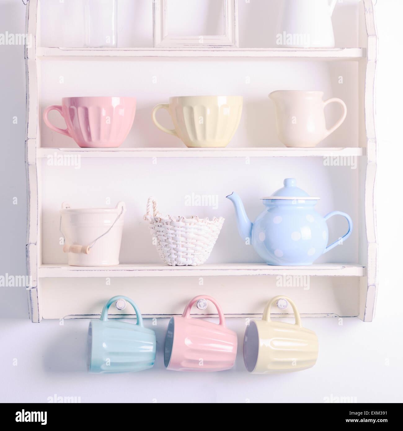 Vintage shelf Stock Photo