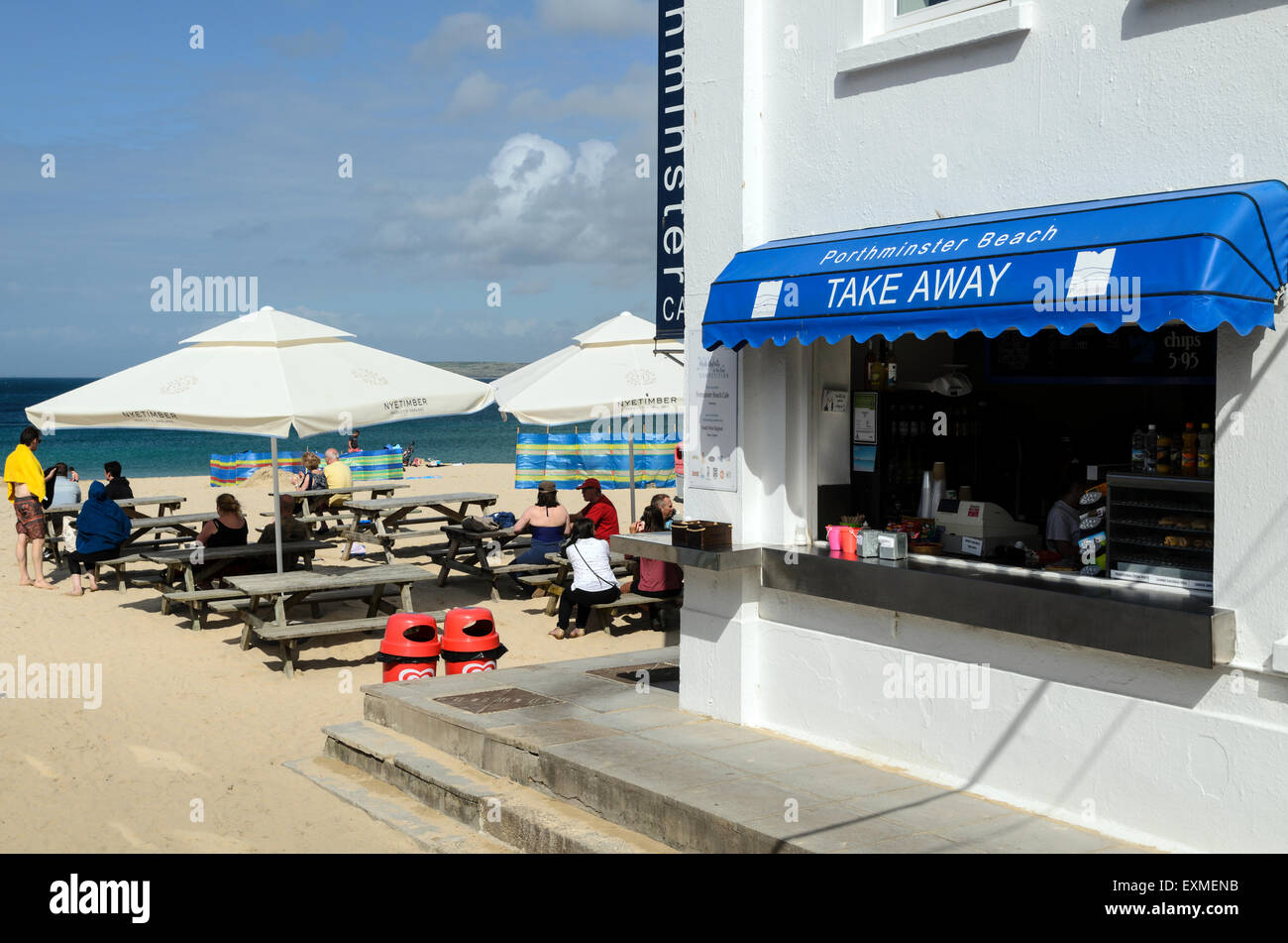 The Take Away At Porthminster Beach, St Ives, Cornwall, U.K, England. - Stock Image