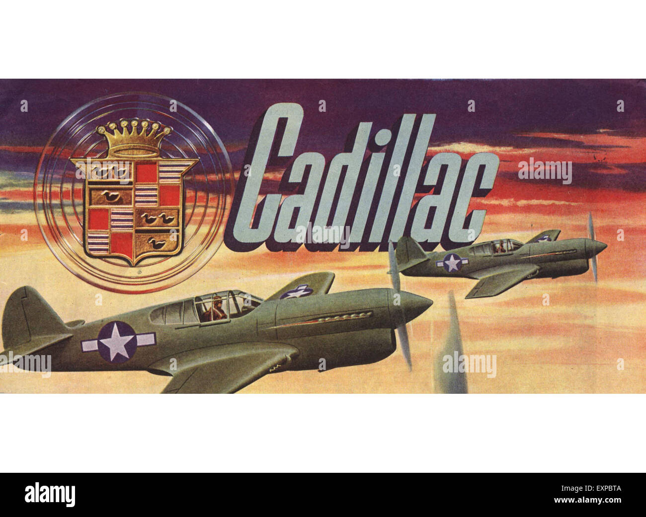 1940s USA Cadillac Magazine Advert - Stock Image