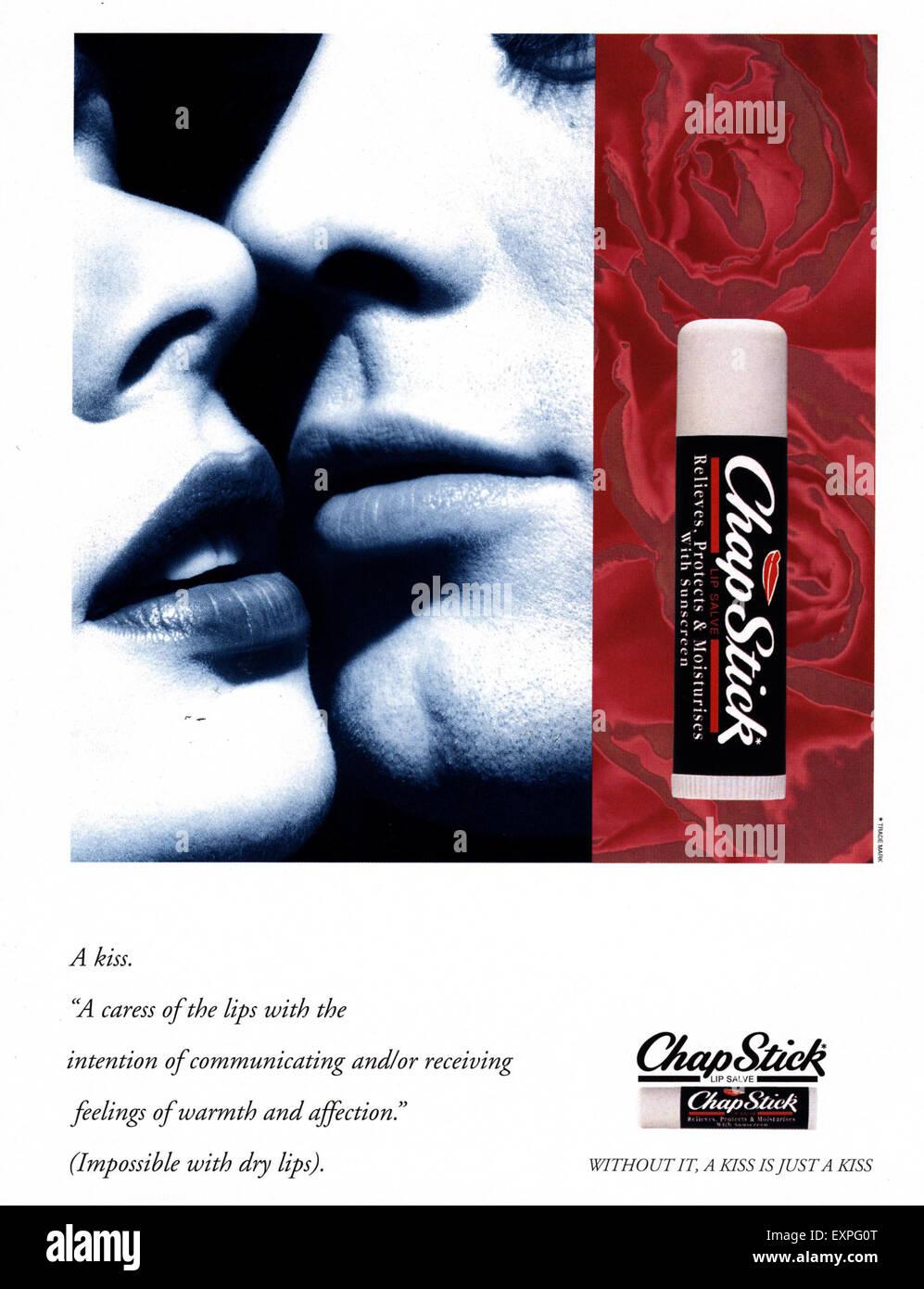 2000s UK Chap Stick Magazine Advert Stock Photo