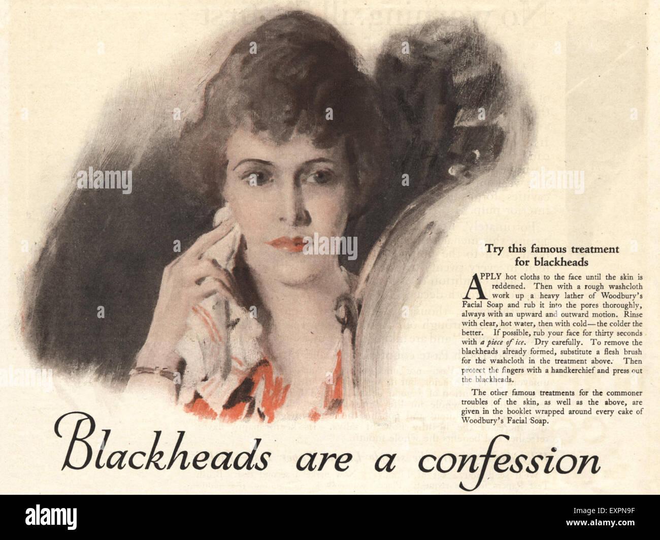 1920s USA  Magazine Advert - Stock Image