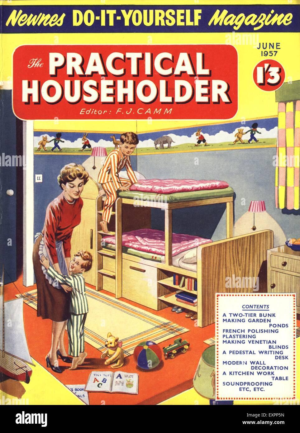 1950s uk woman magazine cover stock photos 1950s uk woman magazine 1950s uk practical householder magazine cover stock image solutioingenieria Image collections
