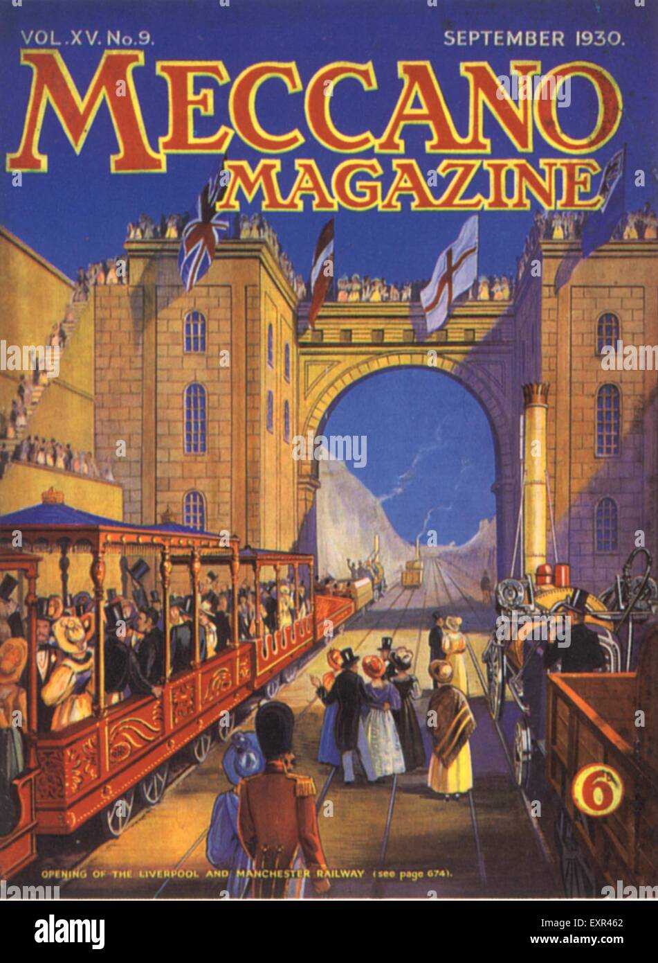 1930s UK Meccano Magazine Advert - Stock Image