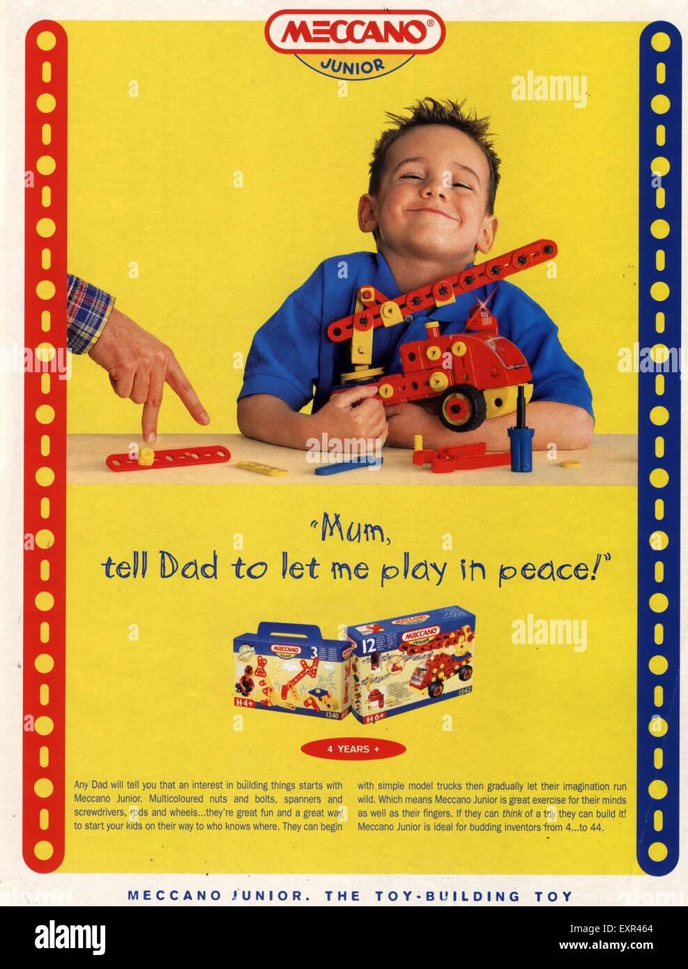 1990s UK Meccano Magazine Advert - Stock Image